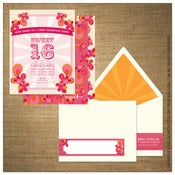 Image of Invitations | Kids<BR>{Paisley Pink Circus}