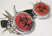 Image of Biohazard Cyber Rave Steampunk Gothic Metal Spike Goggles Headgear Cosplay