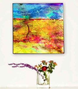 Image of ♥Abstract Retro Art Canvas-Horizon♥