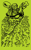 Image of MAD Zombie Robber (Green) Silkscreen Print