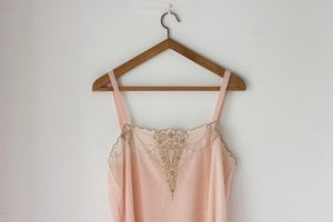 Image of NEW! 1920s pink silk slip {SOLD}