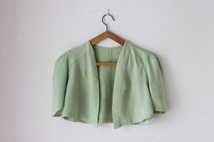 Image of NEW! 1930/40s crepe bolero {SOLD}