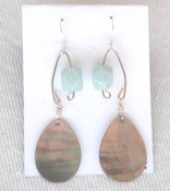 Image of fish lure inspired abalone shell & amazonite