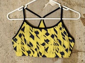 Image of Yellow & Navy Patterned Sportsbra