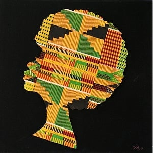 Image of Framed Heads - Myself When I'm Great (kente)