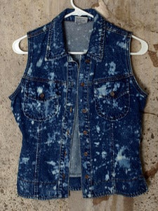 Image of Jordache - Splattered Denim Vest