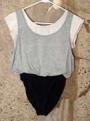 Image of Multi-Layered Leotard - Grey, White, Black