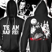 Image of TEAM SAFFER! anti-twilight zip hoodie