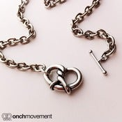 Image of Onch Movement Silver Pretzel Choker