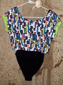Image of Multi-Layered Leotard - Multi-color on Black