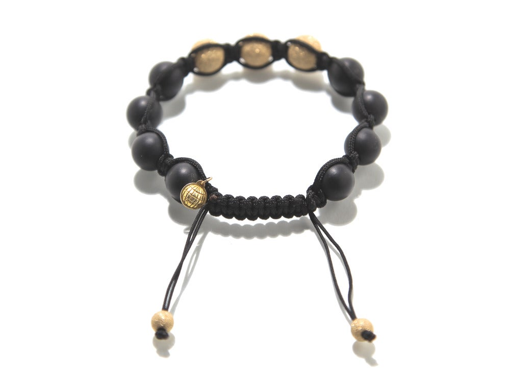 Image of Black Silk w/ Matte Black Onyx & 3 Gold Laser Cut