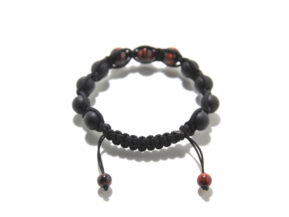 Image of Black Silk w/ Red Tiger Eye & Matte Black Onyx
