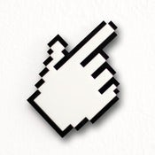 Image of Pixel Hand Cursor Brooch / Necklace