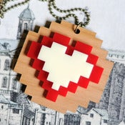 Image of Pixel Love Heart Necklace