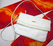 Image of Vintage Via Piaggi White Leather Purse