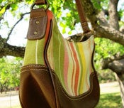 Image of Canvas & Vinyl in Earthy Colors Purse