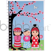 Image of CLEARANCE 50% OFF-Mini Notebook/Japanese Doll-WAS $5.95 NOW ONLY