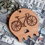Image of Skull Bicycle Necklace
