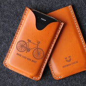 Image of iPhone Leather Case with back pocket - Drive Less Ride More