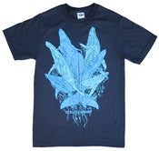 "Image of ""Whales"" Tee (Black Shirt • Blue Inks)"