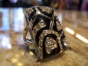 Image of Silver/Black Ring
