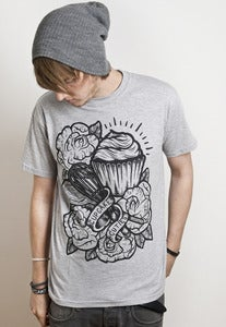 Image of Tattoo Cupcake - Grey