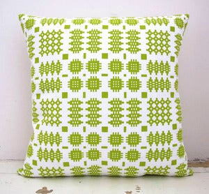 Image of Clustog Print Carthen - <em>Welsh Blanket Print Cushion</em>
