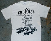 Image of Confines - 'War is not healthy' T-shirt