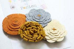 Image of Felt Posie Cluster - Fall Harvest