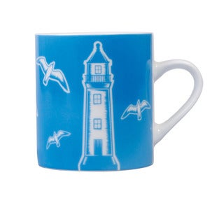 Image of Whitby Porcelain Mug - Harbour