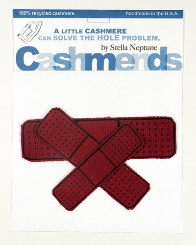 Image of Iron-on Cashmere Band-Aid - Brick Red