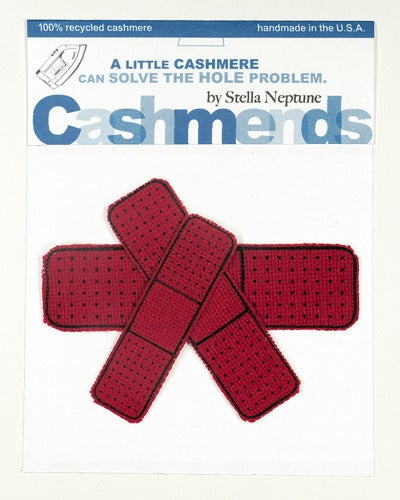 Image of Iron-on Cashmere Band-Aid - Classic Red