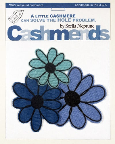 Image of Iron-on Cashmere Flower - Triple Blue