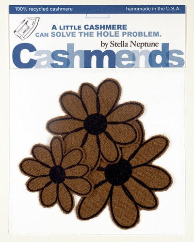 Image of Iron-on Cashmere Flower - Brown