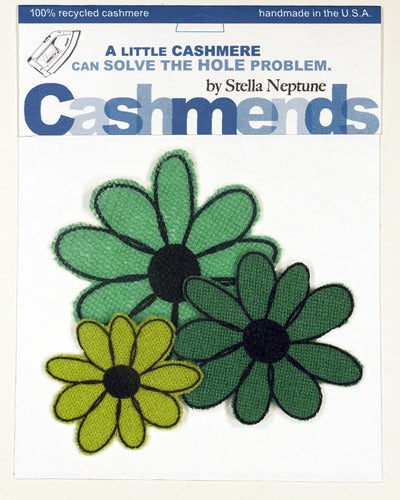 Image of Iron-on Cashmere Flower - Triple Green