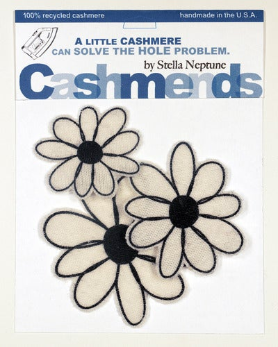 Image of Iron-on Cashmere Flower - Cream