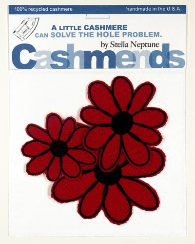 Image of Iron-on Cashmere Flower - Brick Red