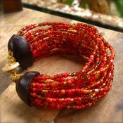 Image of India Red Sambo End Bracelet