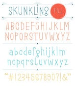 Image of Skunkling Fill Font
