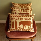 Image of Chocolate Malted Milk Screen Printed Cushion