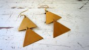 Image of gold triangle earrings