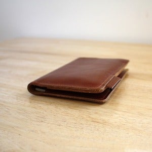 Image of Brown Leather Passport Holder