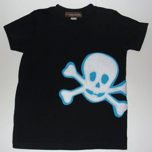 Image of SKULL APPLIQUE T-SHIRT