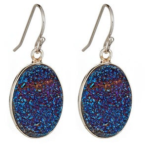 Image of Indigo Druzy Earrings