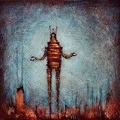"Image of ""Drip RobotC 1 Blue"" <br> Sizes: 4x4"", 6x6"", 8x8"", 12x12"""