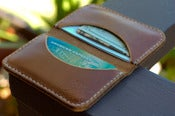 Image of Chromexcel Leather 2 pocket cardholder wallet