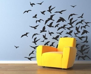 Image of Heading South Flock of Birds Vinyl Wall Sticker Decal Art 