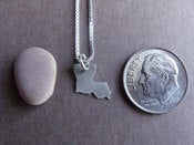 Image of Tiny Louisiana State Necklace