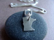 Image of Tiny Minnesota State Necklace