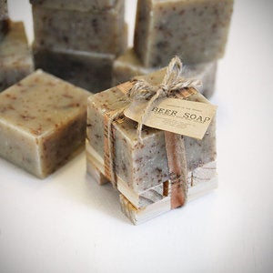 Image of JUST a Lil' BEER Soap with wooden soap dish Gift Set Made In The OZARKS